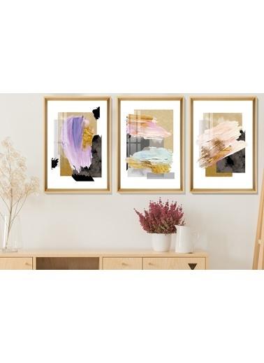 Çerçeve Home  Color Painting Natural Çerçeve Tablo Seti Renkli